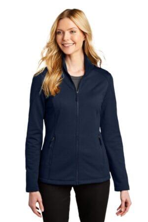 L239 port authority ladies grid fleece jacket