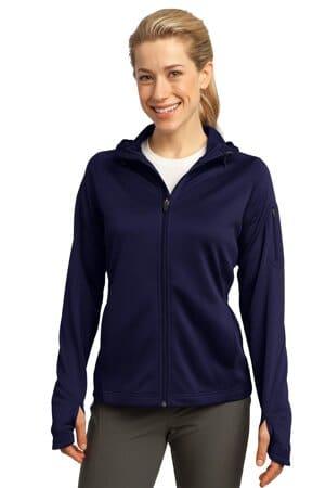 L248 sport-tek ladies tech fleece full-zip hooded jacket