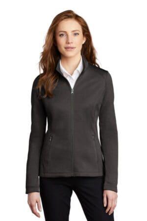L249 port authority ladies diamond heather fleece full-zip jacket