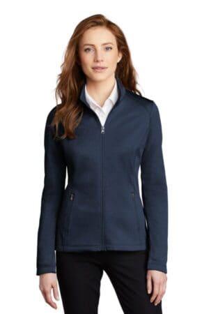 port authority ladies diamond heather fleece full-zip jacket l249