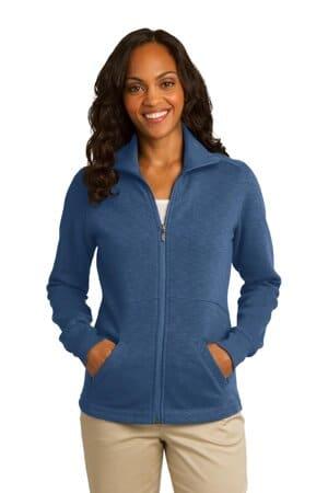 port authority ladies slub fleece full-zip jacket l293