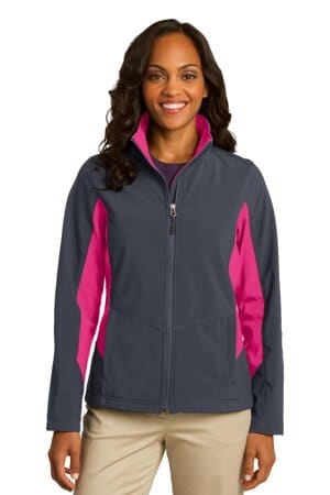 port authority ladies core colorblock soft shell jacket l318