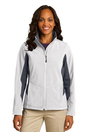 port authority ladies core colorblock soft shell jacket l318