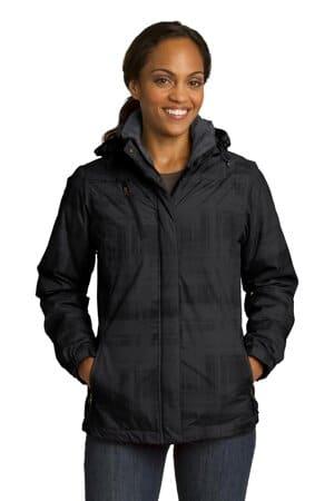 port authority ladies brushstroke print insulated jacket l320