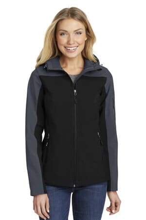 L335 port authority ladies hooded core soft shell jacket