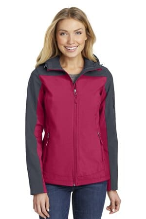 port authority ladies hooded core soft shell jacket l335