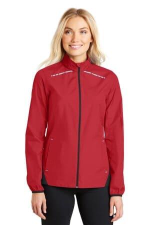 port authority ladies zephyr reflective hit full-zip jacket l345