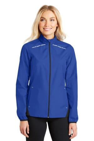port authority ladies zephyr reflective hit full-zip jacket l345