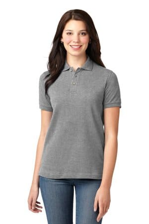 port authority ladies heavyweight cotton pique polo l420