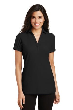 L5001 port authority ladies silk touch y-neck polo