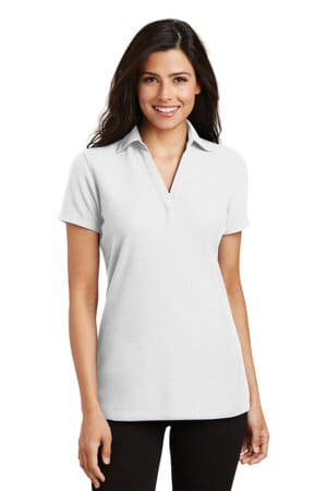port authority ladies silk touch y-neck polo l5001