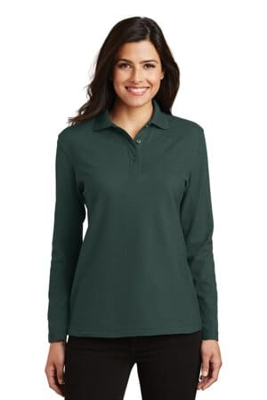 L500LS port authority ladies silk touch long sleeve polo