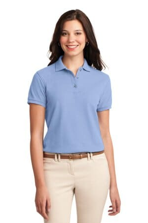 L500 port authority ladies silk touch polo l500