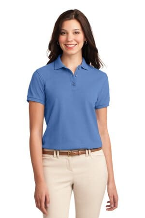 L500 port authority ladies silk touch polo