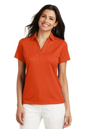 port authority ladies performance fine jacquard polo l528