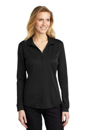 L540LS port authority ladies silk touch performance long sleeve polo