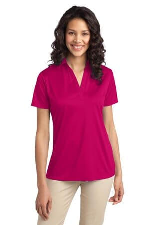 L540 port authority ladies silk touch performance polo