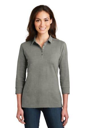 L578 port authority ladies 3/4-sleeve meridian cotton blend polo