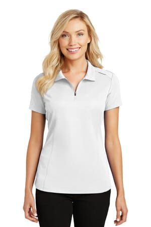 port authority ladies pinpoint mesh zip polo l580