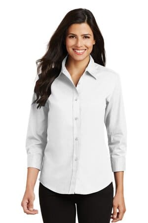 port authority ladies 3/4-sleeve easy care shirt l612