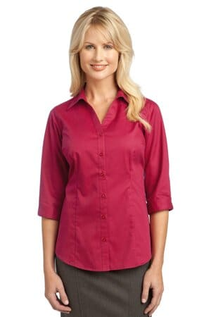 improved port authority ladies 3/4-sleeve blouse l6290