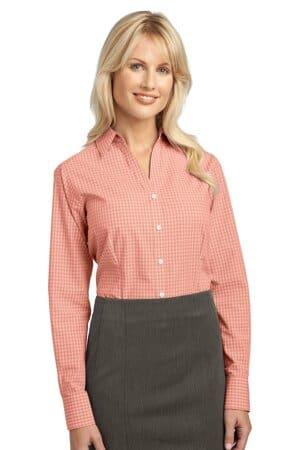 L639 port authority ladies plaid pattern easy care shirt