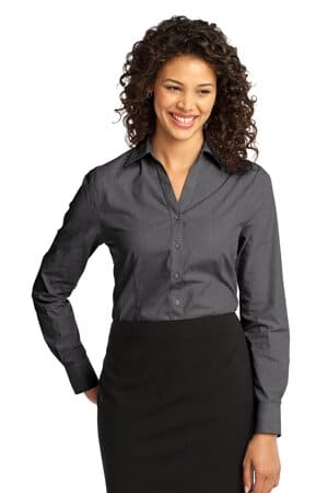port authority ladies crosshatch easy care shirt l640