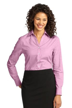 port authority ladies crosshatch easy care shirt l640