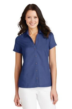 L662 port authority ladies textured camp shirt l662