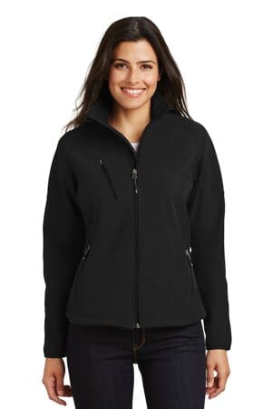 port authority ladies textured soft shell jacket l705