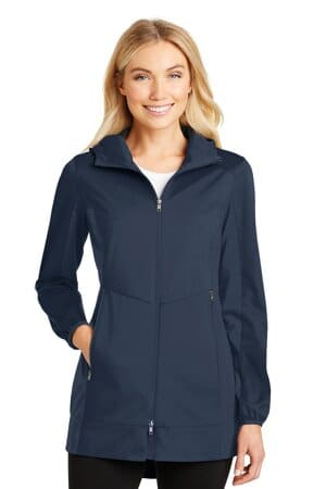 L719 port authority ladies active hooded soft shell jacket