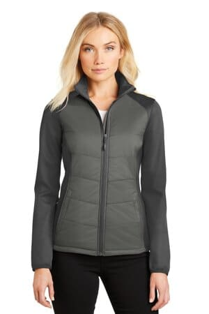 port authority ladies hybrid soft shell jacket l787