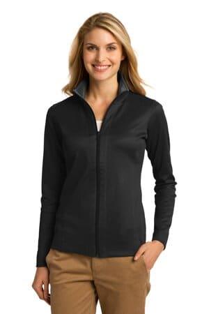 port authority ladies vertical texture full-zip jacket l805