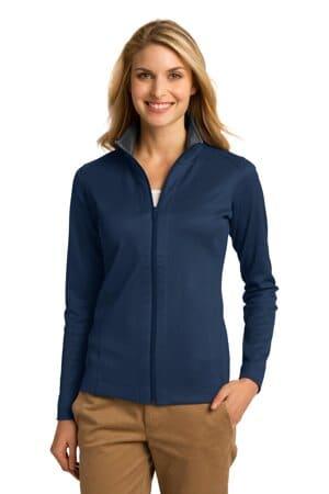 L805 port authority ladies vertical texture full-zip jacket