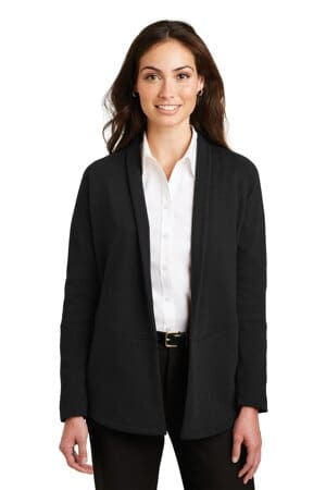 L807 port authority ladies interlock cardigan l807