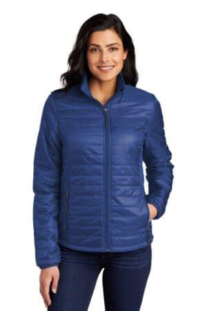 L850 port authority ladies packable puffy jacket l850