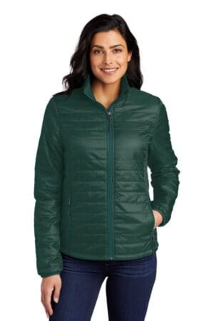 L850 port authority ladies packable puffy jacket l850