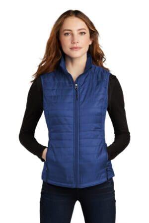L851 port authority ladies packable puffy vest l851