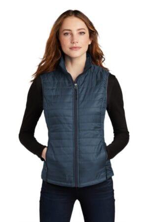 L851 port authority ladies packable puffy vest