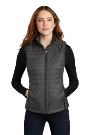 L851 port authority ladies packable puffy vest l851