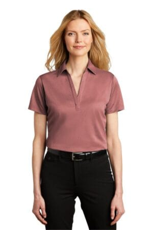 LK542 port authority ladies heathered silk touch performance polo