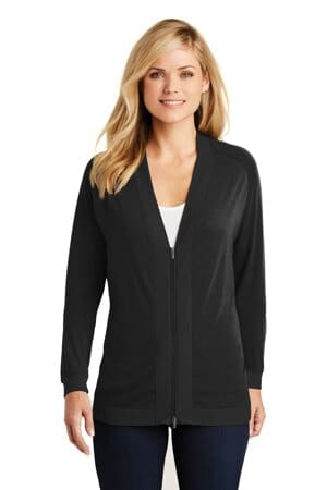 port authority ladies concept bomber cardigan lk5431