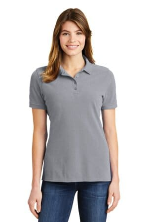 port & company ladies combed ring spun pique polo lkp1500