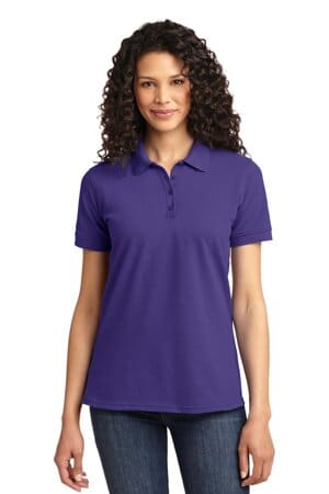 port & company ladies core blend pique polo lkp155