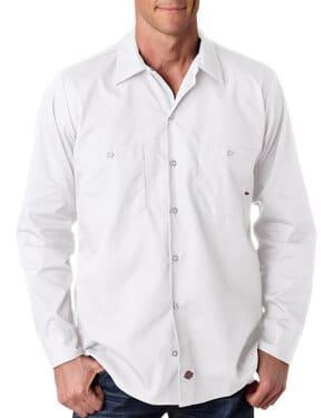 LL535 Dickies men's 425 oz industrial long-sleeve work shirt