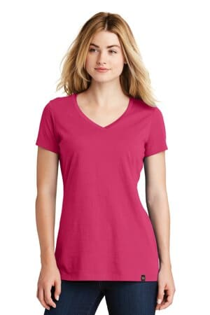 LNEA101 new era ladies heritage blend v-neck tee lnea101