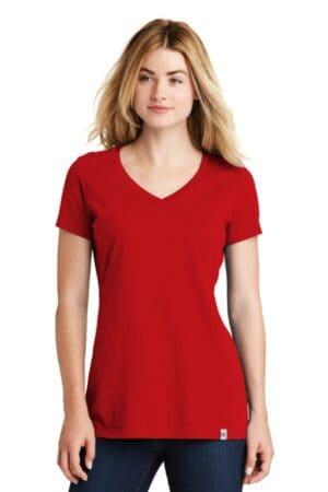 LNEA101 new era ladies heritage blend v-neck tee lnea101