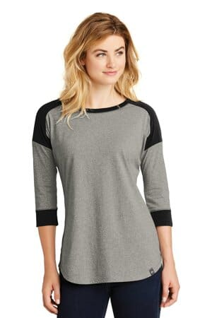 new era ladies heritage blend 3/4-sleeve baseball raglan tee lnea104