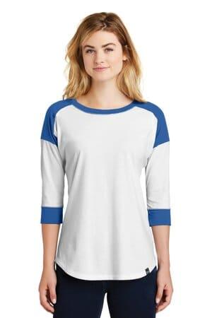 new era ladies heritage blend 3/4-sleeve baseball raglan tee lnea104