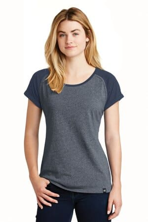 new era ladies heritage blend varsity tee lnea107